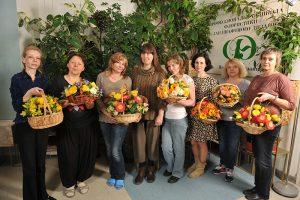 Выпускники курса «Профессиональный минимум флориста»