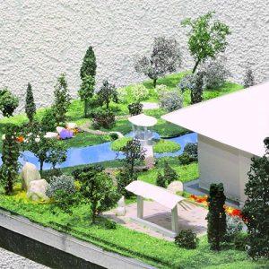 Студенты курса делают макеты для своих проектов, чтобы наглядно ощутить объемно-пространственную композицию будущего сада при ландшафтном проектировании